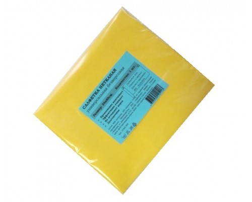 Салфетка универсальная нетканая 34х40см желтая 80гр/м2 1шт/упак