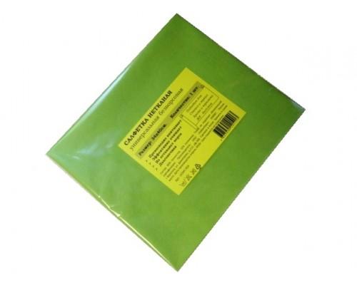 Салфетка универсальная нетканая 34х40см зеленая 80гр/м2 1шт/упак
