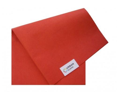 Салфетка универсальная нетканая 34х40см красная 80гр/м2 UCMS 004