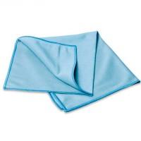 Салфетка из микрофибры 270гр/м2 для стекол 30х30см голубая
