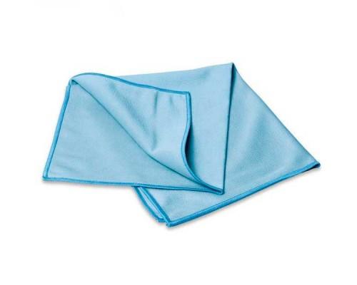 Салфетка из микрофибры 270гр/м2 для стекол 35х40см голубая UCMF 031