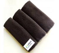 Салфетка из микрофибры 220гр/м2  30х30см черная