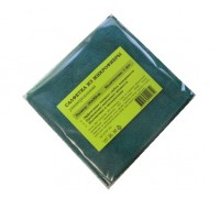 Салфетка из микрофибры 220гр/м2  30х30см зеленая 1шт/упак