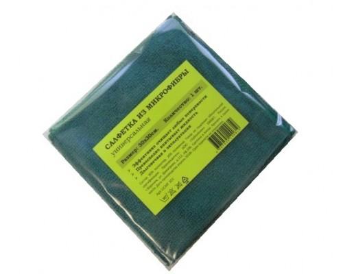 Салфетка из микрофибры 220гр/м2  30х30см зеленая 1шт/упак UCMF 302