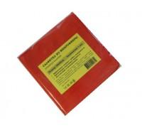 Салфетка из микрофибры 220гр/м2  30х30см красная 1шт/упак