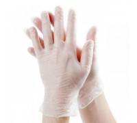 Перчатки виниловые неопудренные одноразовые 100шт размер M