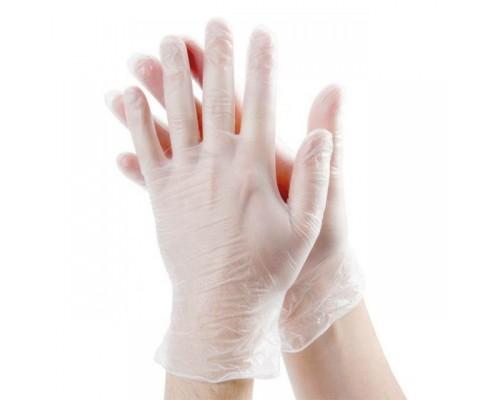 Перчатки виниловые неопудренные одноразовые 100шт размер L