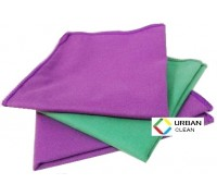 Салфетка из микрофибры 220гр/м2 искусственная замша 30х30см фиолетовая