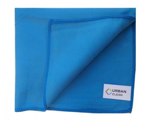 Салфетка из микрофибры 220гр/м2 искусственная замша 35х40см голубая  UCMF 036