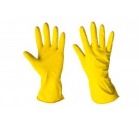 Перчатки хозяйственные латексные размер M