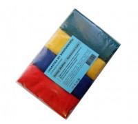 Салфетка из микрофибры 220гр/м2  30х30см ассорти 4шт/упак