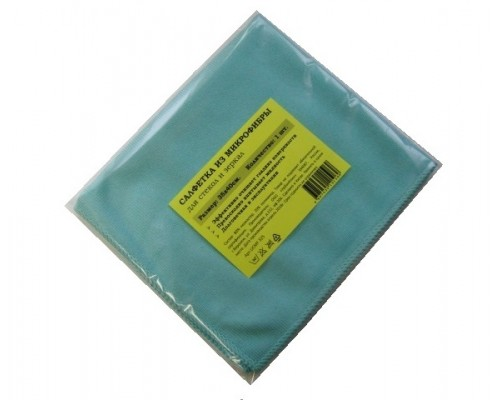 Салфетка из микрофибры 270гр/м2  35х40см голубая 1шт/упак