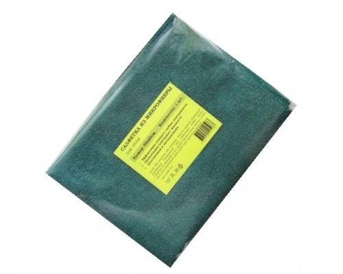Салфетка из микрофибры 220гр/м2  50х60см зеленая 1шт/упак для пола