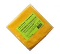 Салфетка из микрофибры 200гр/м2  29х29см желтая 1шт/упак
