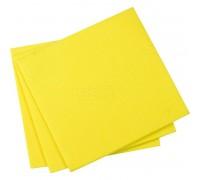 Салфетка из вискозы 30х30см желтая 80гр/м2