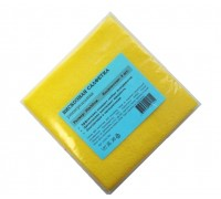 Салфетка из вискозы 30х30см желтая 80гр/м2 3шт/упак